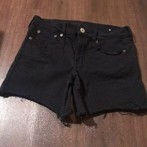 American Eagle black jeans shorts